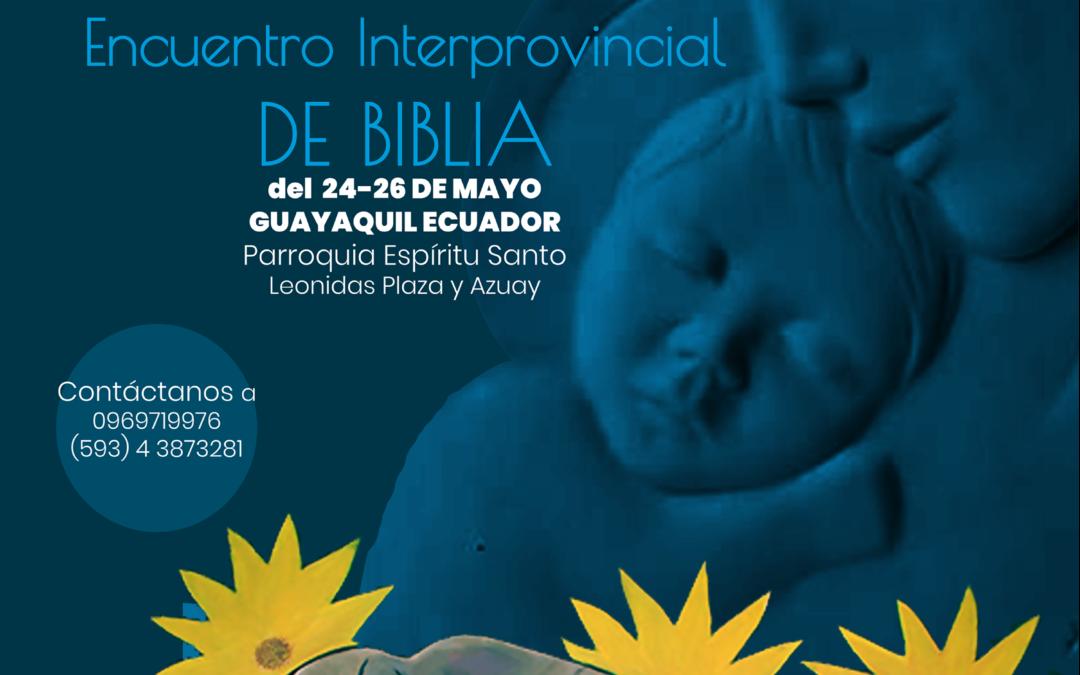 Invitación Encuentro Interprovincial de Biblia