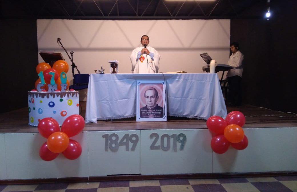 CELEBRACIÓN DEL ANIVERSARIO DE LA FUNDACIÓN DE LA CONGREGACIÓN EN EL COLEGIO CLARETIANO EL LIBERTADOR