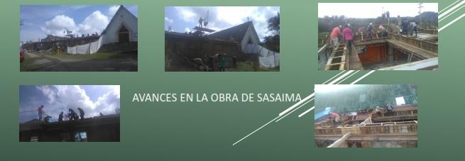 AVANCES EN LA OBRA DE SASAIMA