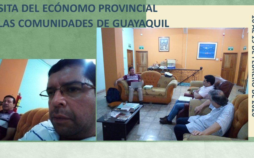 VISITA DEL ECÓNOMO PROVINCIAL A LAS COMUNIDADES DE GUAYAQUIL
