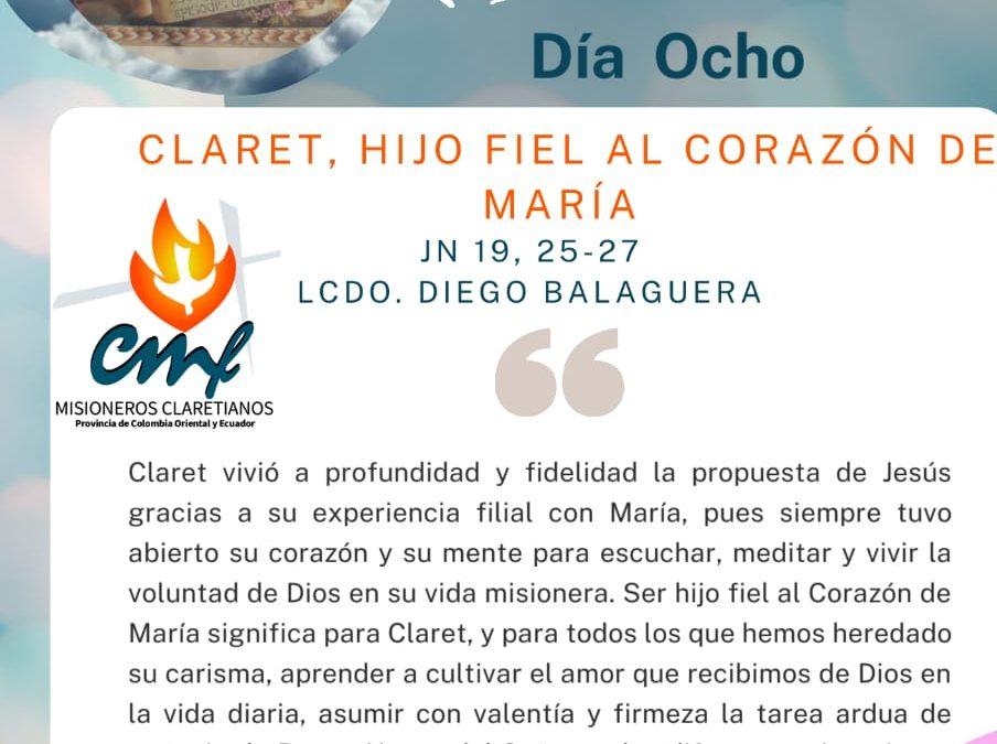 DÍA OCTAVO Novena a San Antonio María Claret.