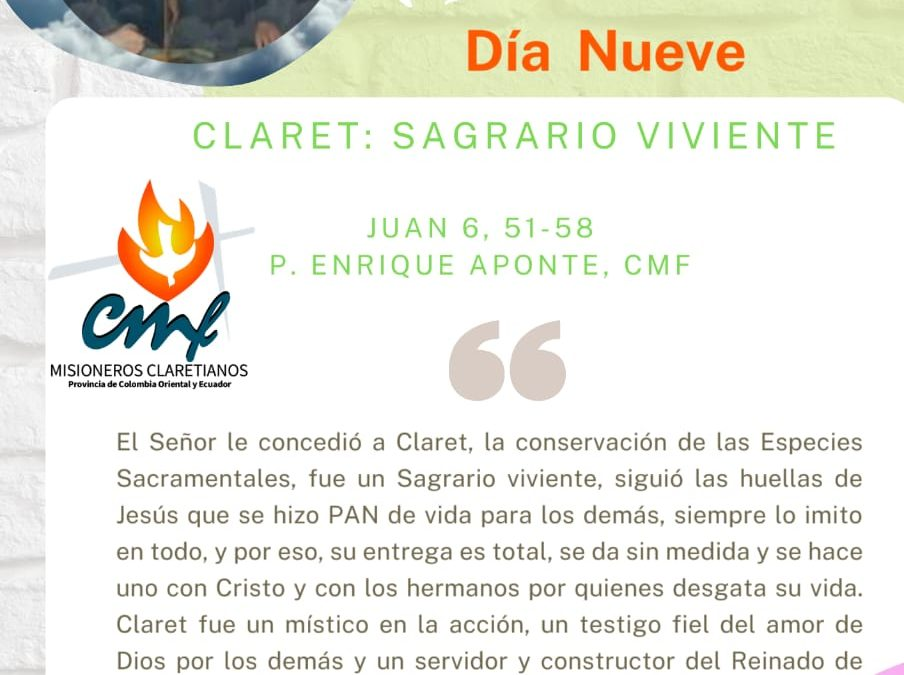 DÍA NUEVE Novena a San Antonio María Claret